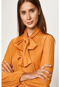 Pomarańczowa koszula Vila casualowa, długa, na co dzień