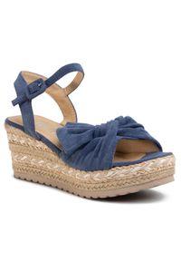 Niebieskie sandały Refresh casualowe, na co dzień, z aplikacjami