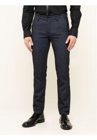 Karl Lagerfeld - KARL LAGERFELD Spodnie materiałowe Chino with Contrast 255836 592816 Granatowy Regular Fit. Kolor: niebieski. Materiał: materiał