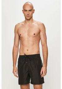 Czarne kąpielówki Calvin Klein z nadrukiem