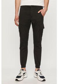 PRODUKT by Jack & Jones - Produkt by Jack & Jones - Spodnie. Okazja: na co dzień. Kolor: czarny. Materiał: tkanina. Wzór: gładki. Styl: casual