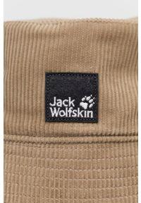 Jack Wolfskin - Kapelusz sztruksowy. Kolor: beżowy. Materiał: sztruks