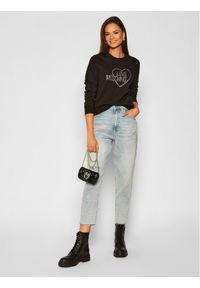 Love Moschino - LOVE MOSCHINO Bluza W630407E 2204 Czarny Regular Fit. Kolor: czarny
