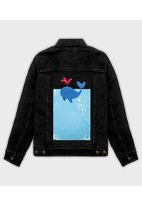 MegaKoszulki - Kurtka jeansowa damska Whale Blood. Materiał: jeans. Wzór: nadruk. Sezon: wiosna. Styl: klasyczny