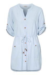 Niebieska tunika Cellbes elegancka, z dekoltem w serek