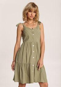 Renee - Zielona Sukienka Corirea. Kolor: zielony