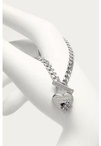 Srebrna bransoletka Guess z aplikacjami, metalowa