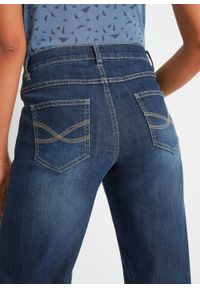 Dżinsy 3/4 culotte bonprix ciemnoniebieski. Kolor: niebieski