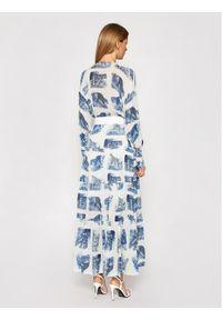 Niebieska sukienka Silvian Heach koszulowa