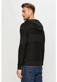 Czarna bluza rozpinana Armani Exchange na co dzień, casualowa, z kapturem