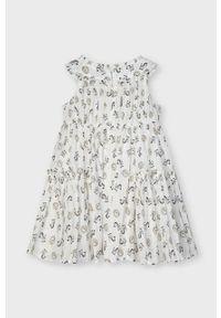 Kremowa sukienka Mayoral mini, rozkloszowana, bez rękawów
