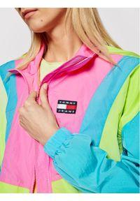 Tommy Jeans Kurtka przejściowa Colorblock Zip Through DW0DW09828 Zielony Regular Fit. Kolor: zielony