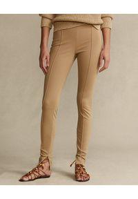 Ralph Lauren - RALPH LAUREN - Leginsy w kolorze khaki Skinny fit. Kolor: beżowy. Materiał: materiał