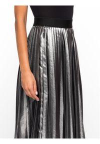 Srebrna spódnica plisowana Sportmax Code