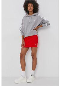 adidas Originals - Bluza bawełniana. Typ kołnierza: kaptur. Kolor: szary. Materiał: bawełna