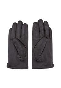 Czarne rękawiczki Wittchen eleganckie, z aplikacjami