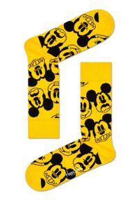 Żółte skarpetki Happy-Socks z motywem z bajki