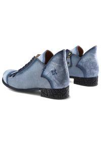 Niebieskie botki Maciejka