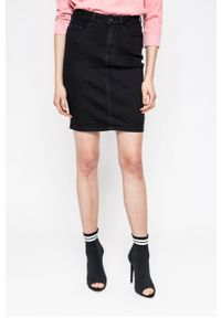 Czarna spódnica Vero Moda na co dzień, gładkie, casualowa