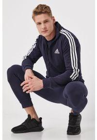 Niebieski komplet dresowy Adidas gładki