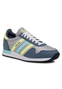 Szare buty sportowe Adidas z cholewką, na co dzień