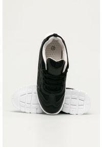 Czarne buty sportowe Answear Lab na sznurówki, na obcasie, z cholewką