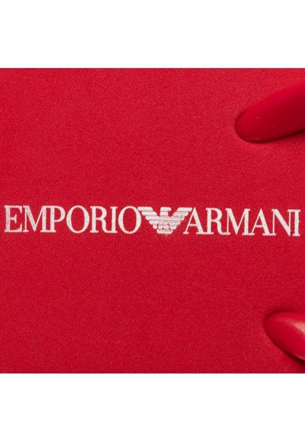 Czerwone japonki Emporio Armani