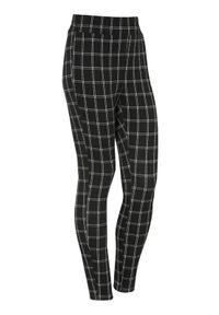 Cellbes Dżersejowe spodnie w kratkę z żakardu ze stretchem Czarny w kratkę female czarny/ze wzorem 62/64. Okazja: na co dzień. Kolor: czarny. Materiał: jersey, żakard. Wzór: kratka. Styl: casual