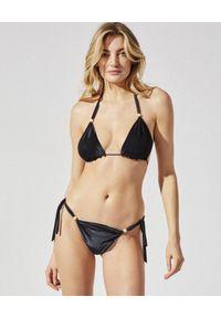 PRAIA BEACHWEAR - Czarne bikini Black Velvet. Kolor: czarny. Materiał: tkanina. Wzór: aplikacja