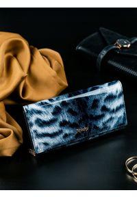 ROVICKY - Portfel damski skórzany RFID Rovicky czarny szary. Kolor: czarny. Materiał: skóra