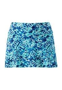 Cellbes Majtki od bikini ze spódniczką w niebieskie wzory niebieski we wzory female niebieski/ze wzorem 36. Kolor: niebieski