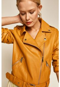 Żółta kurtka medicine na co dzień, boho, bez kaptura