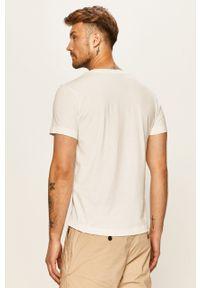 Biały t-shirt Tom Tailor Denim casualowy, z okrągłym kołnierzem, na co dzień