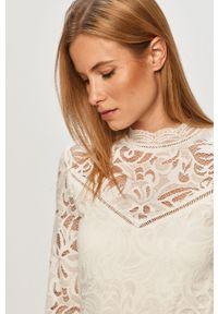 Biała bluzka Vila casualowa, długa, na co dzień