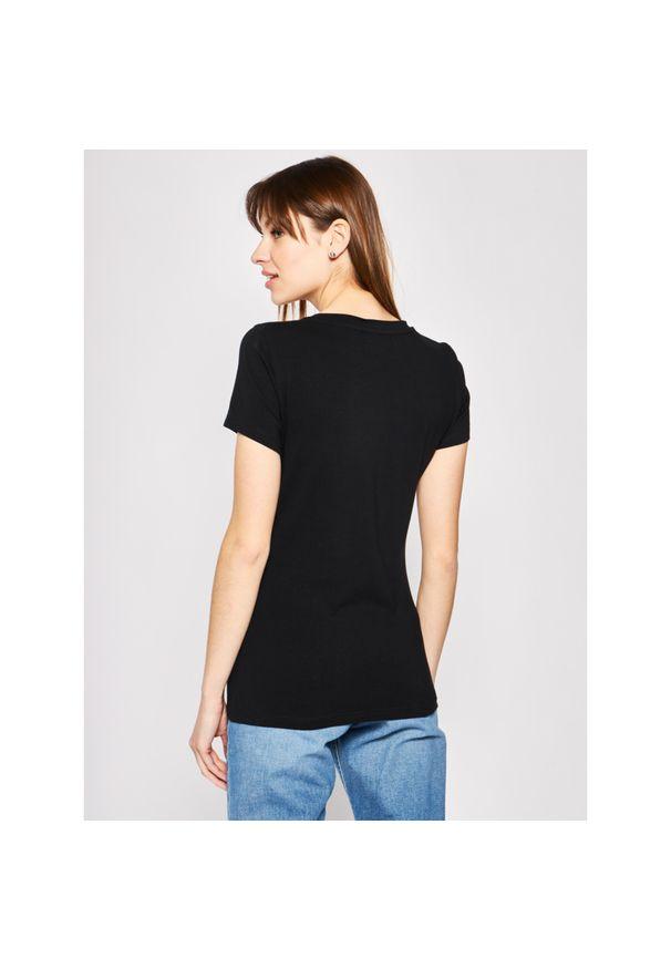 Czarny t-shirt Trussardi Jeans