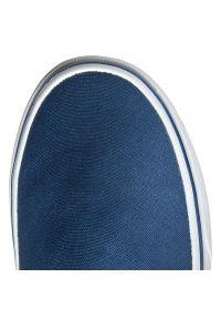 Niebieskie trampki Vans bez zapięcia, z cholewką