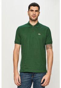 Zielona koszulka polo Lacoste casualowa, polo, na co dzień