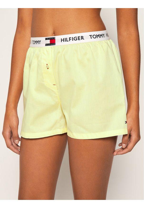 Tommy Hilfiger Szorty piżamowe Woven UW0UW02284 Żółty
