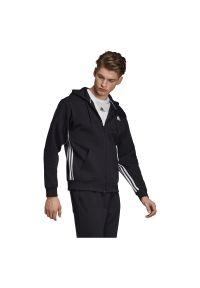Adidas - Bluza męska treningowa adidas Must Haves 3-Stripes DX7657. Typ kołnierza: kaptur. Materiał: dzianina, bawełna, poliester. Długość rękawa: długi rękaw. Długość: długie. Sport: fitness