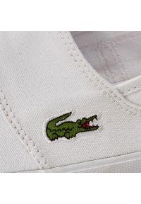 Lacoste - Tenisówki LACOSTE - Marice Bl 2 Cam 7-33CAM1071001 Wht. Okazja: na co dzień. Kolor: biały. Materiał: materiał. Szerokość cholewki: normalna. Styl: casual, elegancki