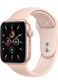APPLE - Smartwatch Apple Watch SE GPS 44mm Gold Alu Pink Sport Różowy (MYDR2WB/A). Rodzaj zegarka: smartwatch. Kolor: różowy. Styl: sportowy