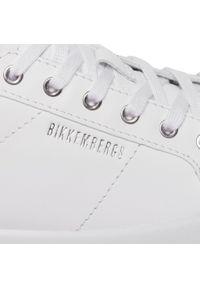 Białe półbuty Bikkembergs z cholewką, na płaskiej podeszwie