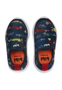 Bibi - Sneakersy BIBI - Fly Baby 1136050 Print/Naval. Kolor: niebieski. Materiał: materiał. Wzór: nadruk