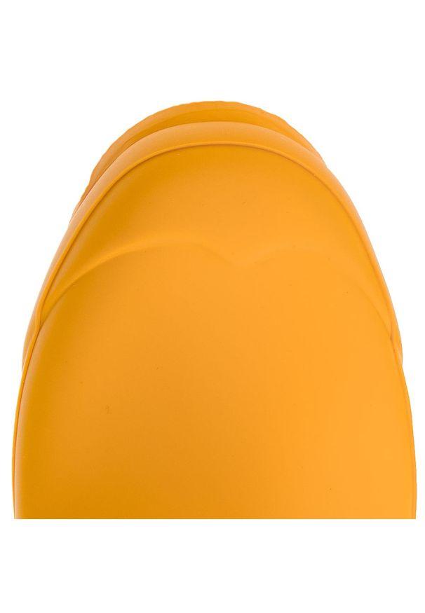 Żółte kalosze Hunter z aplikacjami, z cholewką