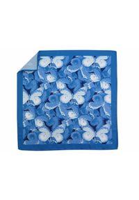 Adam Collection - Niebieska poszetka w motyle E270. Kolor: niebieski