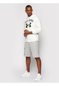 Under Armour Bluza Rival Terry Big Logo 1361559 Biały Loose Fit. Kolor: biały