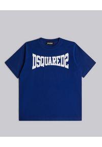 DSQUARED2 KIDS - Bawełniany t-shirt z logo marki 4-16 lat. Kolor: niebieski. Materiał: bawełna. Sezon: lato. Styl: klasyczny