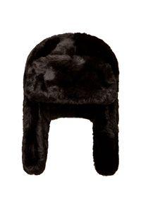 Czarna czapka Granadilla w kolorowe wzory