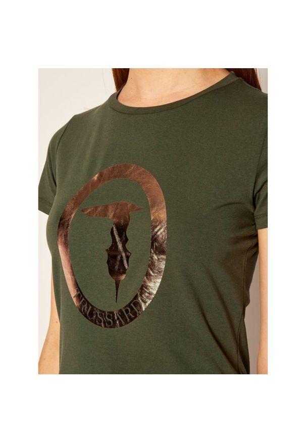 Zielony t-shirt Trussardi Jeans