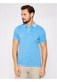 Marc O'Polo Polo M22 2266 53024 Niebieski Regular Fit. Typ kołnierza: polo. Kolor: niebieski
